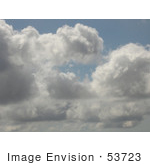 #53723 Royalty-Free Stock Photo Of A Puffy Cloudy Sky