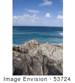 #53724 Royalty-Free Stock Photo Of A Cliff&Rsquo;S Edge