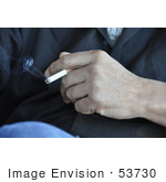 #53730 Royalty-Free Stock Photo Of A Hand Holding Cigarette