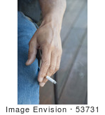 #53731 Royalty-Free Stock Photo Of A Hand Holding Cigarette