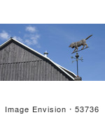 #53736 Royalty-Free Stock Photo Of A Dog Weathervane