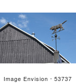 #53737 Royalty-Free Stock Photo Of A Dog Weathervane