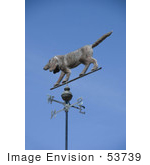 #53739 Royalty-Free Stock Photo Of A Dog Weathervane