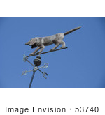 #53740 Royalty-Free Stock Photo Of A Dog Weathervane
