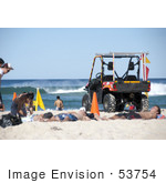 #53754 Royalty-Free Stock Photo Of A Dune Buggy On A Beach