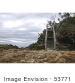 #53771 Royalty-Free Stock Photo Of A Flight Of Steps On A Beach