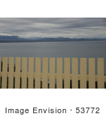 #53772 Royalty-Free Stock Photo Of A Fence Close To A Beach