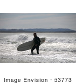 #53773 Royalty-Free Stock Photo Of A Surfer