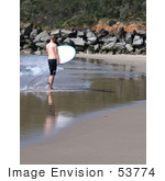 #53774 Royalty-Free Stock Photo Of A Surfer