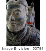#53784 Royalty-Free Stock Photo Of A Terra Cotta Warrior And Horse Statue