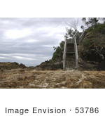 #53786 Royalty-Free Stock Photo Of A Beach With Stairs
