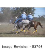 #53796 Royalty-Free Stock Photo Of A Game Of Polo