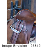 #53815 Royalty-Free Stock Photo Of A Saddle