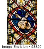 #53820 Royalty-Free Stock Photo Of A Music Stained Glass Window