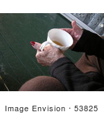 #53825 Royalty-Free Stock Photo Of A Senior Woman&Rsquo;S Hands Holding A Tea Cup