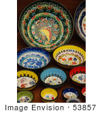 #53857 Royalty-Free Stock Photo Of A Collection Of Artistic Bowls