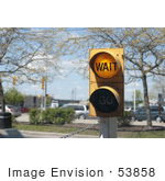 #53858 Royalty-Free Stock Photo Of A Wait Street Light