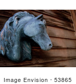 #53865 Royalty-Free Stock Photo Of A Horse Head Statue