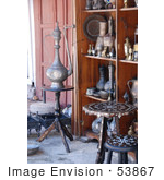 #53867 Royalty-Free Stock Photo Of A Collection Of Antiques