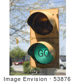 #53876 Royalty-Free Stock Photo Of A Green Go Light