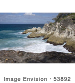 #53892 Royalty-Free Stock Photo Of A Coast