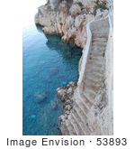 #53893 Royalty-Free Stock Photo Of Stone Stairs On A Beach