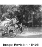 #5405 Billie Burke In A Bicycle Sedan