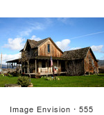 #555 Photograph Of The Old Wood House On Highway 62 In Eagle Point Oregon