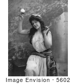 #5602 Woman Holding Cigarette