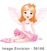 #56166 Royalty-Free (Rf) Clip Art Of A Dirty Blond Ballerina Fairy Princess Sitting by pushkin