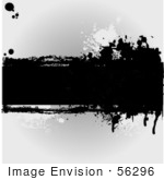 #56296 Royalty-Free (Rf) Clip Art Illustration Of A Grungy Gray Background With Ink Splatters And A Text Bar