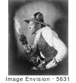 #5631 Sioux Indian Smoking Cigarette