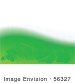 #56327 Royalty-Free (Rf) Clip Art Illustration Of An Abstract Orange Background With A Top White Half Over Green