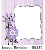 #56330 Royalty-Free (Rf) Clip Art Illustration Of A Purple Flower Background