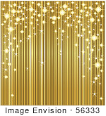#56333 Royalty-Free (RF) Clip Art Illustration Of A Golden Background With Sparkly Lights by pushkin