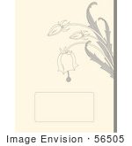 #56505 Royalty-Free (Rf) Clip Art Illustration Of A Beige Bridal Background With Gray Bell Flowers And A Text Box