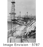 #5787 Oil Well Derricks by JVPD
