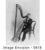 #5818 Male Harpist by JVPD