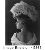 #5863 Woman Wearing Feathered Hat