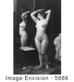 #5866 Nude Woman By Mirror by JVPD