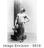 #5919 Eugen Sandow Posed by Column by JVPD