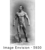 #5930 Eugen Sandow Wearing a Fig Leaf by JVPD