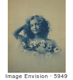 #5949 Woman Holding Flowers