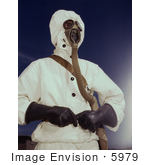 #5979 Sailor Wearing Gas Mask