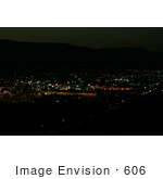 #606 Picture of City Lights in Medford, Oregon by Kenny Adams