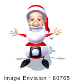#60765 Royalty-Free (Rf) Illustration Of A 3d Santa Claus Holding His Arms Open - Version 4