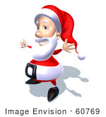 #60769 Royalty-Free (Rf) Illustration Of A 3d Santa Claus Holding His Arms Open - Version 6