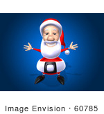 #60785 Royalty-Free (Rf) Illustration Of A 3d Santa Holding His Arms Open - Version 3