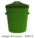#60815 Royalty-Free (Rf) Illustration Of A 3d Green Trash Can