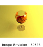 #60853 Royalty-Free (Rf) Illustration Of A 3d Glass Of Red Wine With A World Atlas Printed On The Glass - Version 3